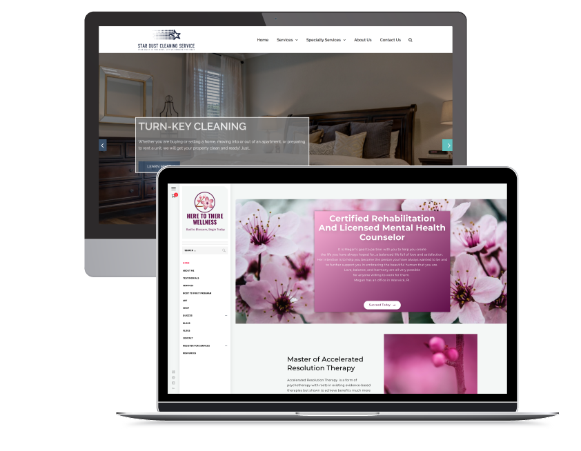 Two of our websites that we designed